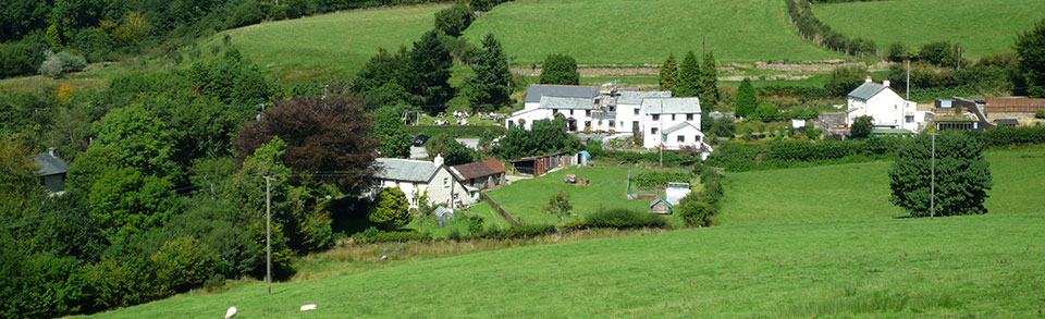 Charming Challacombe Village in Exmoor, North Devon