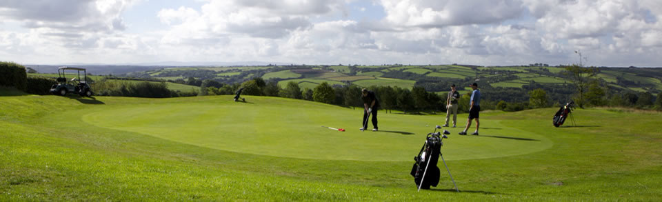 Golfing holidays in Exmoor, North Devon